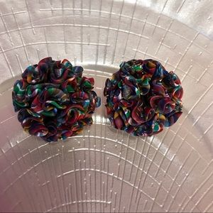 Vintage Clay Statement Clip-on Earrings